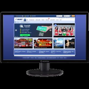 การเข้าใช้งานเว็บ สโบเบท ผ่านเว็บไซต์ บนเครื่องคอมพิวเตอร์